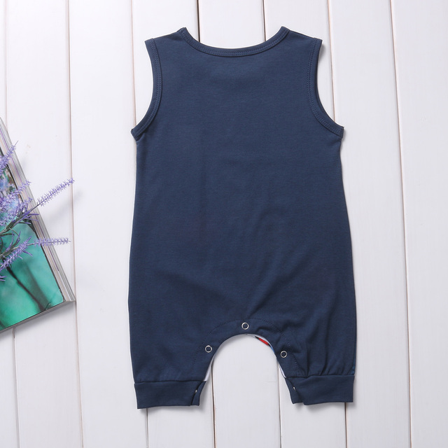 Newborn Summer Clothes Cartoon Print Spider-Man Iron Man Sleeveless Baby Boy Girl Romper Cotton Jumpsuit Clothing 0-24M 2