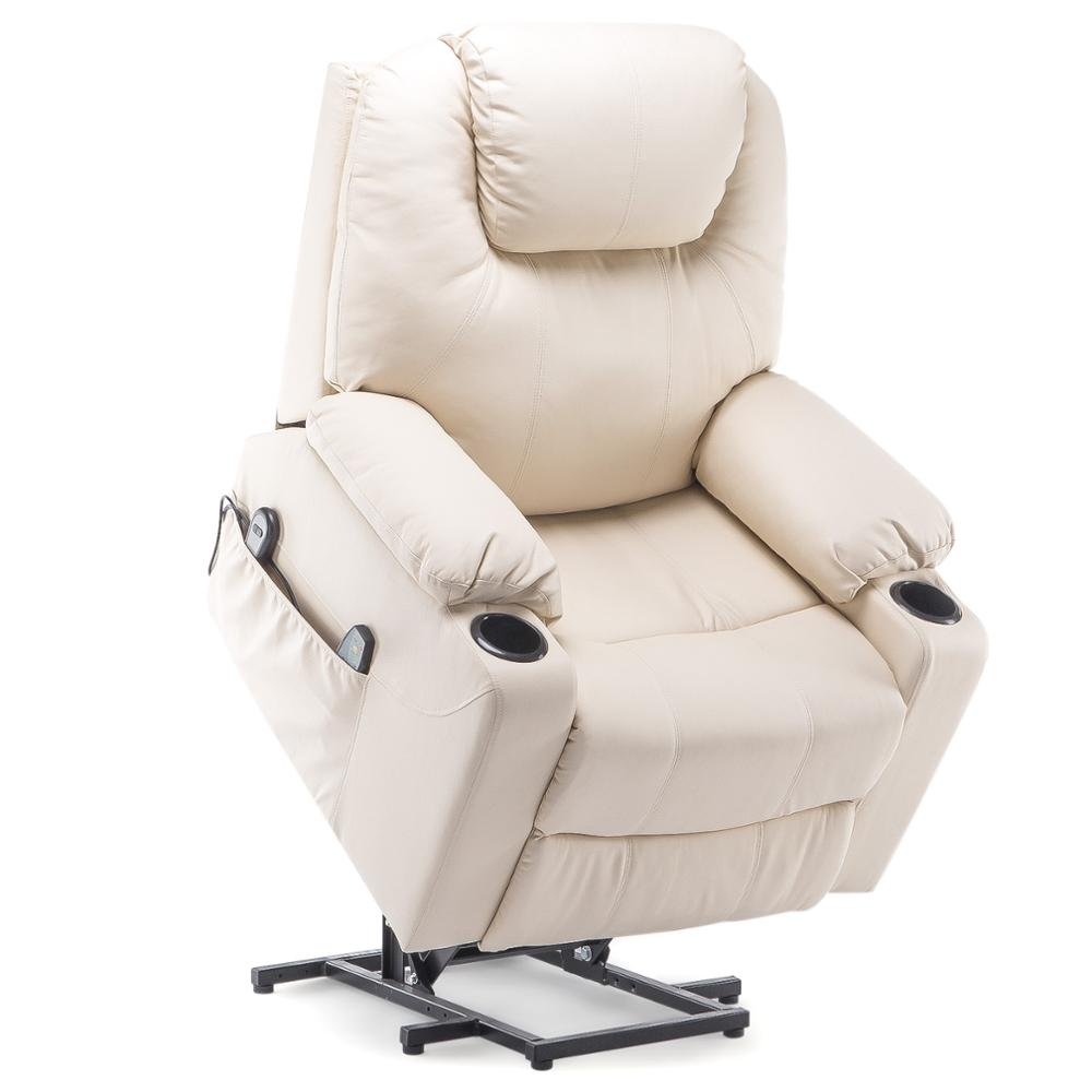 2021 Upgraded Electric Massage Chair Power Lift Recliner Chairs Leisure Soft Sofa Full Body Shiatsu Lounge Armchair for Elderly 6