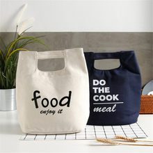 Classic Children Food Storage Bag Baby Bags Waterproof Canvas Thicken Lunch Bag Handbag Insulated Reusable Tote Bag(China)