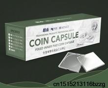 20 sztuk/SetCoin kwadratowe pudełko do przechowywania wyświetlacz różnorodność średnica plastikowe pudełko etui na monety kapsułki pojemnik moneta przezroczysty 50 zestaw