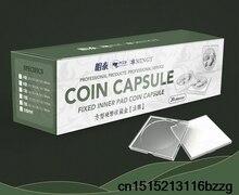 20 шт./набор, квадратный ящик для хранения монет, дисплей, различный диаметр, пластиковая коробка, держатель для монет, контейнер для капсул, монета, прозрачный, 50 шт.