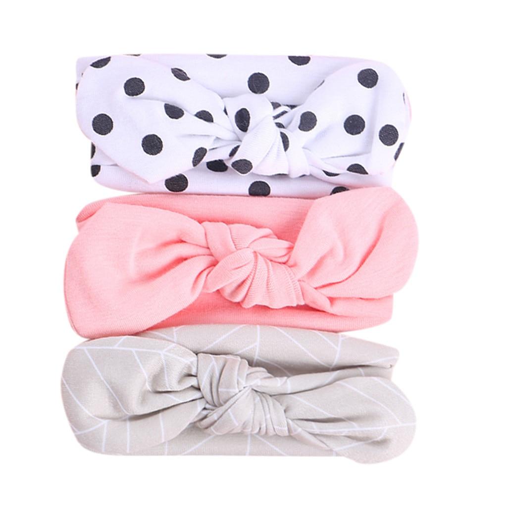 3pcs/set Children's Bunny Ear Bow Hairband Baby Girls Hair Accessories  Newborn Headbands Hairbands For Kids