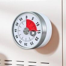 Magnet Round Timer Reminder Stainless Steel Mechanical Kitchen Timer Cooking Clock Alarm Learning Timer Kitchen Diy Time Manager