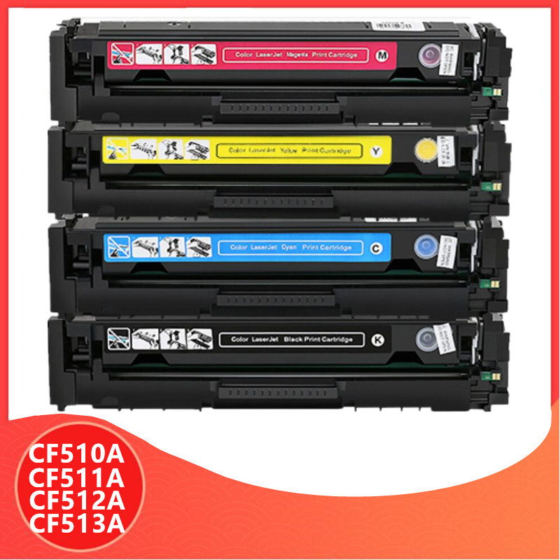 Avec puce compatible CF510A CF510 CF511A 204A cartouche de Toner couleur pour imprimante hp LaserJet Pro M154 MFP M180 M180n M181 M181fw