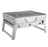 Freies verschiffen 35*27*20cm Picknick BBQ Holzkohle Grills für Grill & Splitter Outdoor edelstahl Wandern holzkohle Camping Grill