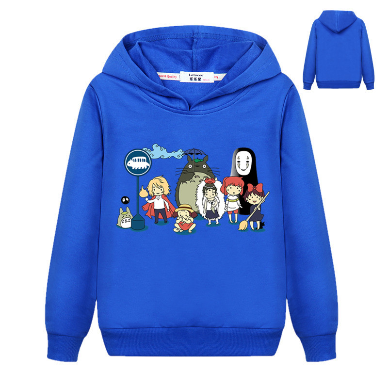 New Cute Totoro Sweatshirt Kids Boys Cartoon 3D Harajuku Casual Tops Girls Pullover Hoodies Student Clothes 4