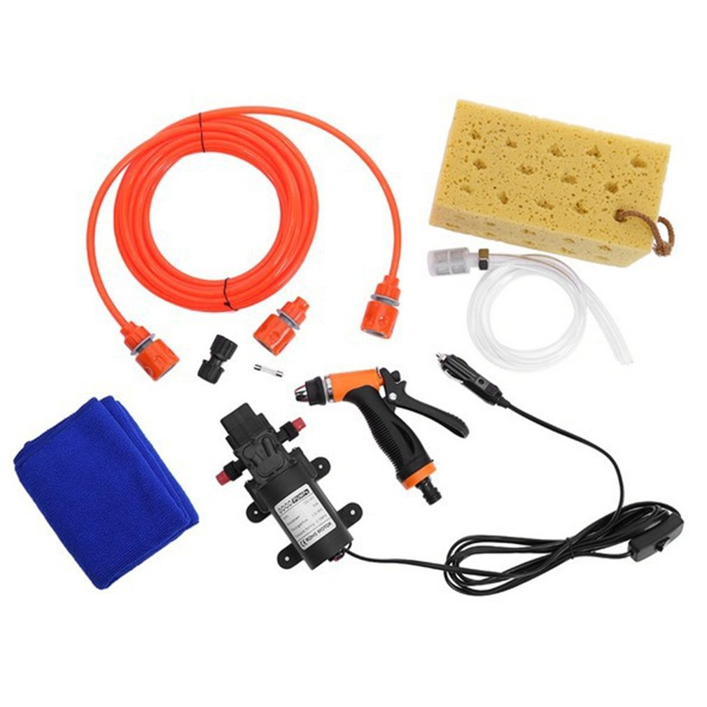 6L//min 130PSI High Pressure Car Water Pump Car Cleaning Kit 70W 12V DIY Auto Washing Tools Set Water Saving Car Accessaries