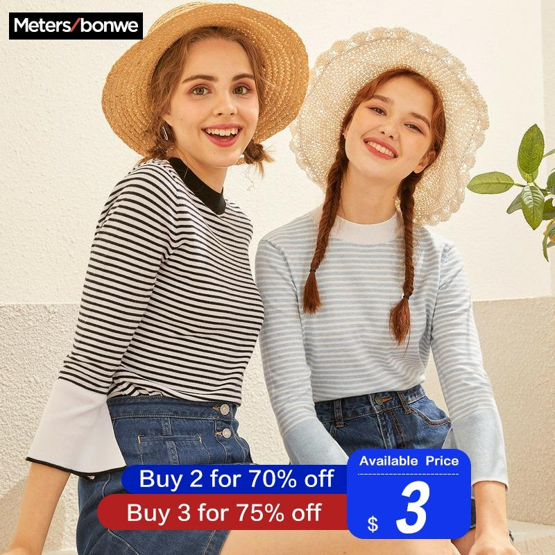 Metersbonwe 2019 Cotton Knitted Sweater Women Pullovers Turtleneck Autumn Winter Basic Women Sweaters Korean Style Slim Fit