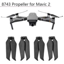 4 pièces hélice 8743 fibre de carbone palette pliante pour DJI Mavic 2 Pro Zoom lames accessoires Drone accessoires remplacement