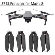 4pcs Elica 8743 In Fibra di Carbonio Pieghevole Paddle per DJI Mavic 2 Pro Zoom Lame Puntelli Drone Accessori di Ricambio