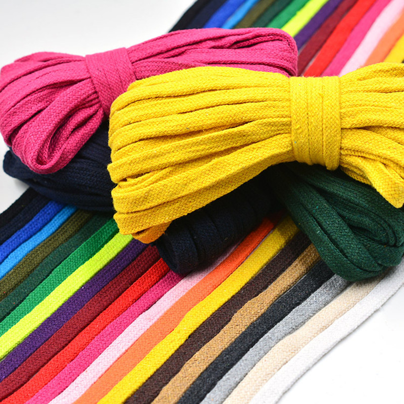 10mm Cotton Flat Rope Cord Hollow Twisted Woven String Braided Wire Rope DIY Handmade Home Crafts Pants Shoes Bag Accessories