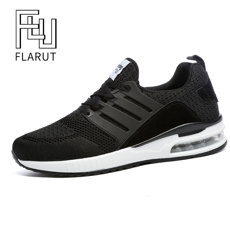 Image 2 - Flarut Men Tennis Shoes Air Cushion Lace Up Men Sport Shoes Breathable Mesh Sneakers Black Tenis Hombre Trainers Athletic ShoesTennis Shoes   -