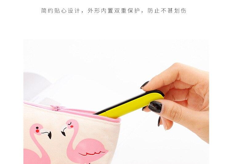 Deli 0600 портативные ножницы ручной работы для студентов ножницы для резки бумаги креативные складные безопасные ножницы