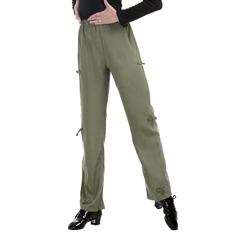 Latin Dance Pants Male Rumba Cha Cha Tango Samba Salsa Wear Men Dancing Practice Clothes Chinese Style Button Trousers DN4609