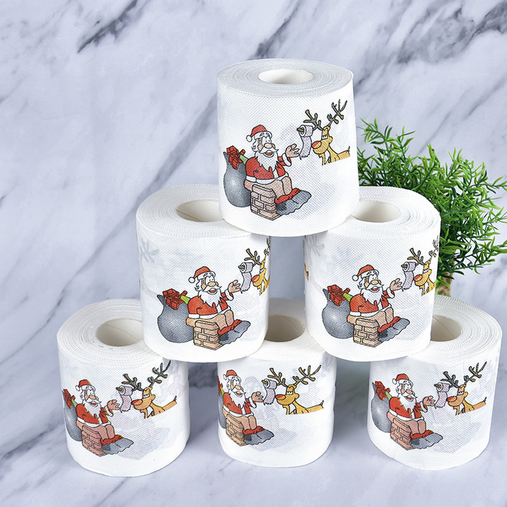 New-Year-Gifts-22m-Roll-Santa-Claus-Reindeer-Christmas-Toilet-Paper-Christmas-Decorations-for-Home-Natale (1)