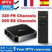 French IPTV Box X96 mini Android TV Box with 5200+ 1 Year IPTV Europe Subscrition France Spain Football IPTV M3U Smart IP TV Box