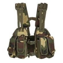 Jacht Vest Tactische Borst Rig Verstelbare Gewatteerde Modulaire Militaire Vest Mag Pouch Tijdschrift Houder Tas Platform Tactische Vest