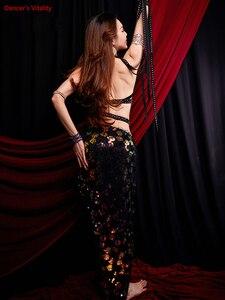 Image 3 - Frauen Bauchtanz Kostüm Leistung Kostüme Orientalischen Indischen Tanz Röcke Praxis Kleidung Handgemachten Custom Bühne Tragen
