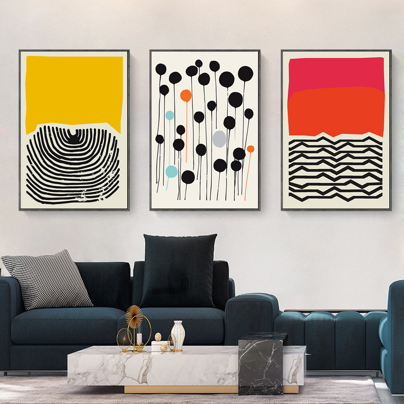 Modern Living Room Decoration Painting Abstract Geometric Dots Art Simple Canvas Painting Nightmare Before Christmas Kitchen Painting Calligraphy Aliexpress