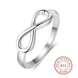 925 Sterling Silver Infinity R