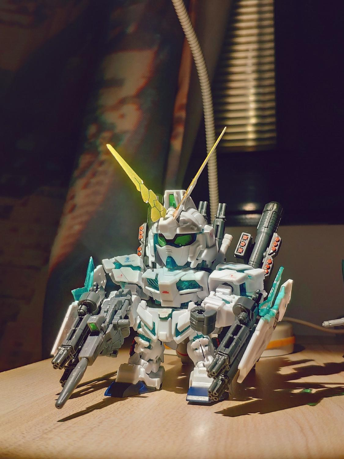 Japanese anime figures <font><b>Gundam</b></font> SD <font><b>BB</b></font> Full Armor Unicorn RX-O Unicorn Destory Model action figure plastic kits toys In Retail Box image