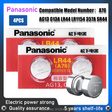 4 шт., щелочные кнопочные батарейки Panasonic AG13 LR44 357 357A S76E G13 AG 13 1,5 в