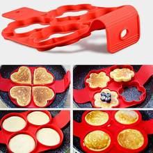 Novo produto venda quente silicone quatro-buraco omelete antiaderente forma redonda gadgets de cozinha e acessórios para cozinha