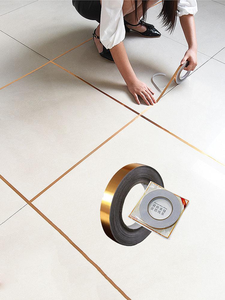 vanzlife bedroom waterproof and mildew seam decorative stickers gap wedding decoration room floor wall stickers self-adhesive