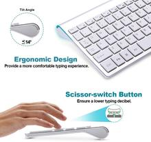 цена на Wireless keyboard and mouse set ergonomic silent keyboard USB interface for Android Apple TV MAC