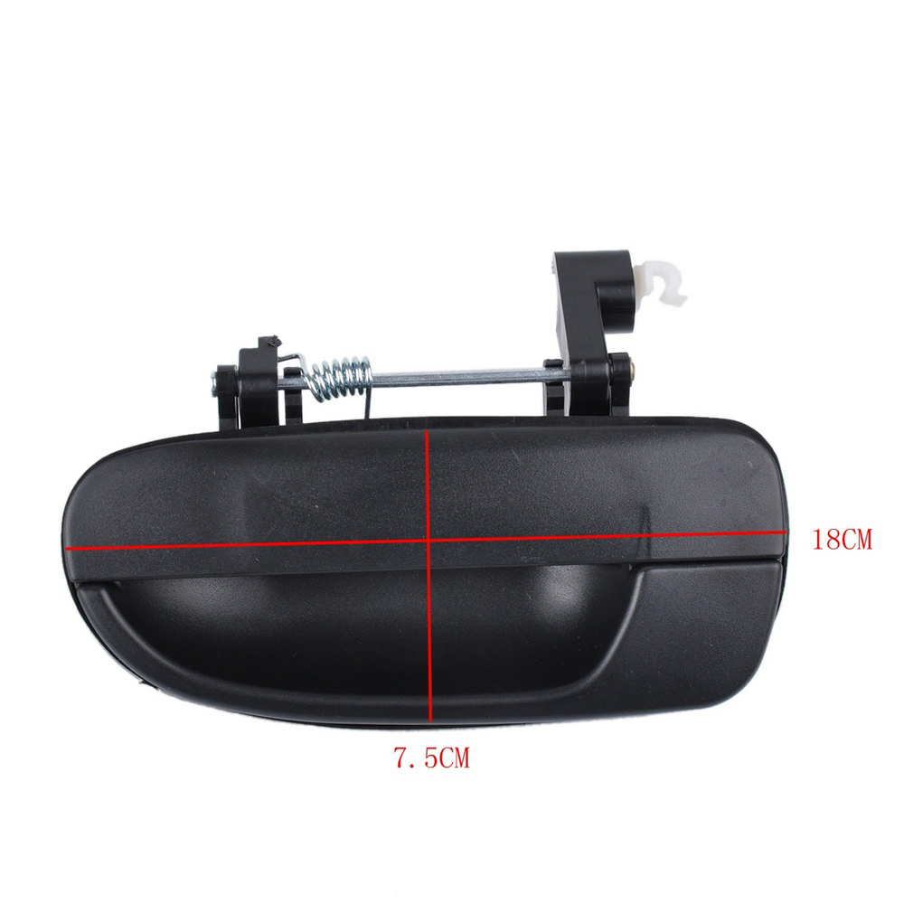 NEW BLACK OUTSIDE DOOR HANDLE FRONT REAR LEFT RIGHT For Hyundai Accent 2000-2006