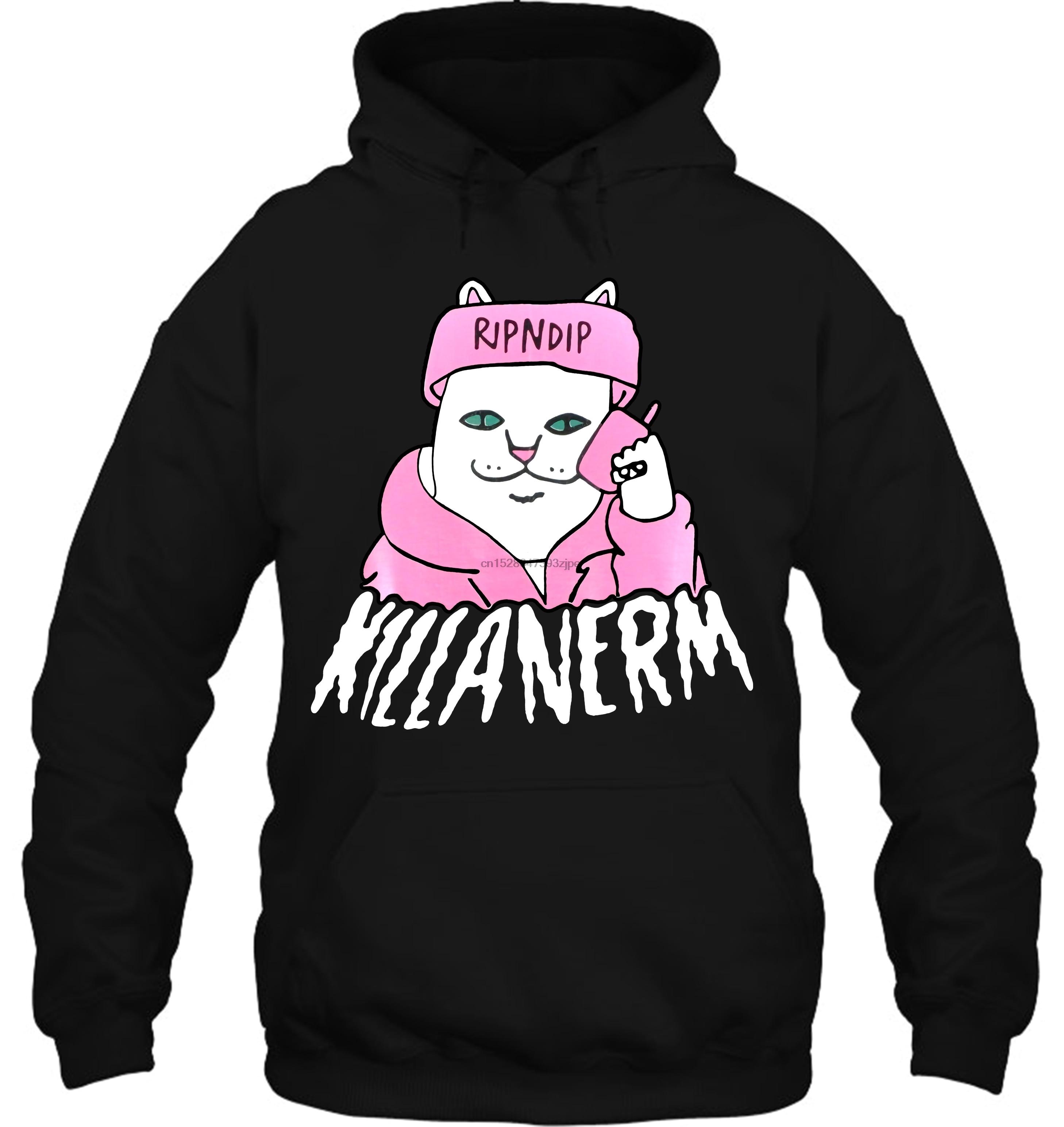 RIP N DIP Killa Nerm In Black Streetwear Men Women Hoodies Sweatshirts