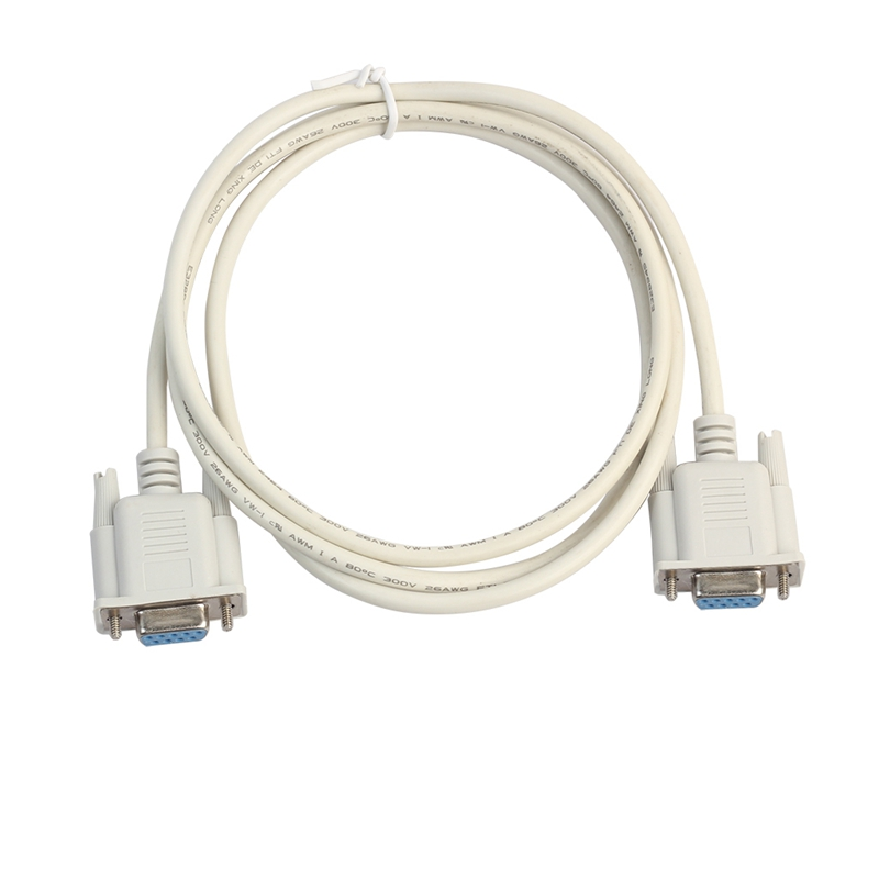 Serial RS232 Null Modem Cable Female to Female DB9 FTA Cross Connection 9 Pin COM Data Cable Converter PC Accessory 1.5M