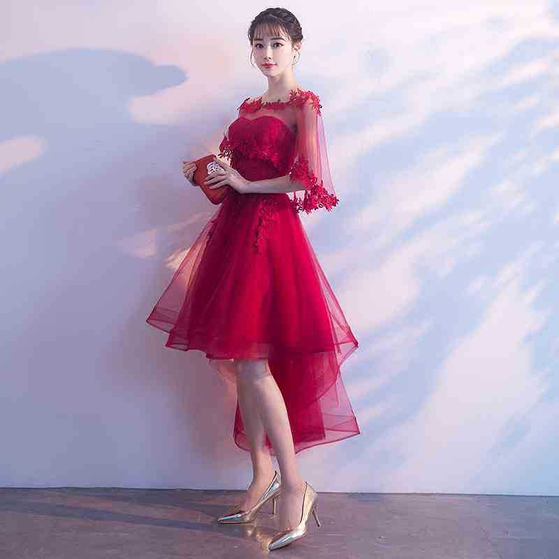 Dress For Toast Bride 2019 New Style Return Feast Short-height Short Dress Debutante Nobility Elegant Evening Gown Women's