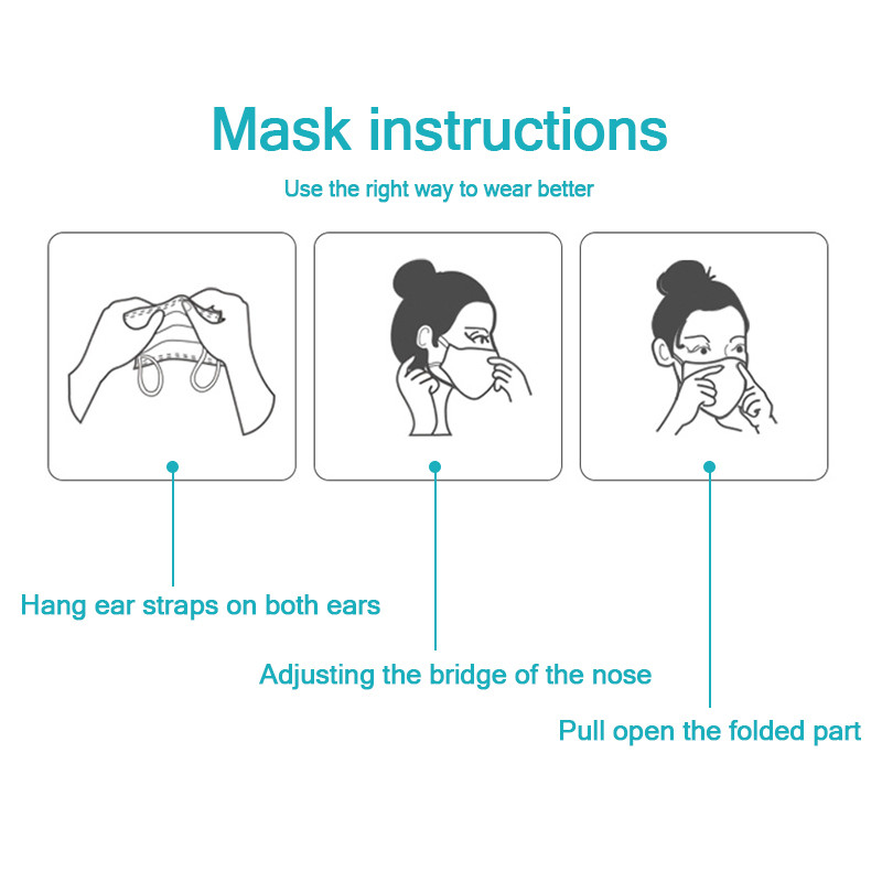 Image 2 - Face Mask Protect 3 Layer Non woven Meltblown Anti Pollution Disposable Masks Anti Pollution Safety Dust Masque Fast ShippingWomens Masks   -