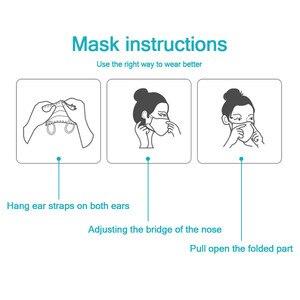 Image 2 - Gesicht Maske Schützen 3 Schicht Nicht woven Schmelzgeblasenen Anti Verschmutzung Einweg Masken Anti Verschmutzung Sicherheit Staub Masque schnelle Versand