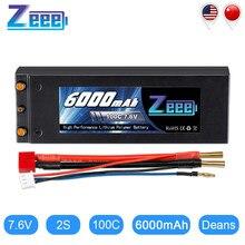 Zeee – batterie Lipo 7.6V, 6000mAh, 100C, pour voiture, camion, Truggy