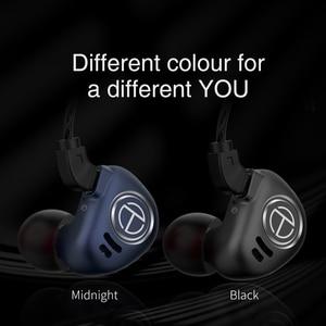 Image 4 - טורנירים V90 4BA + 1DD מתכת אוזניות היברידי יחידות HIFI בס אוזניות באוזן צג אוזניות רעש ביטול אוזניות V80 ZS10 פרו X6