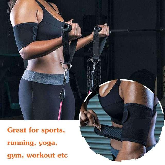 Pair Sweat Sauna Adjustable Arm / Thigh Belt Fat Burner Trainer Sports Gym Slimmer Weight Loss Shaper Muscle Slim Belt 5