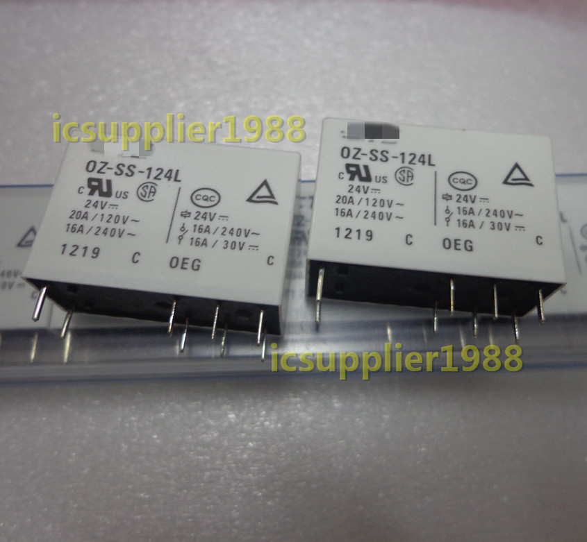 10pcs/lot OZ-SS-124L 24VDC 8 Feet Relay 16A 250V DC24V 0Z-SS-124L-24V DIP8