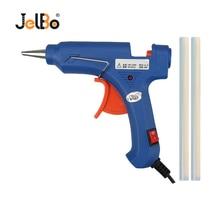 JelBo 20W EU/US Hot Melt Glue Gun with Free 2pc 7mm Glue Stick Industrial Mini Guns Thermo Electric Heat Temperature Repair Tool 20w electric repair trigger art tool heating gun hot glue us eu