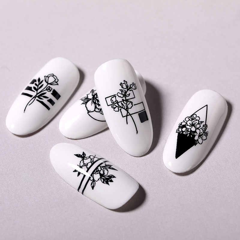 BORN PRETTY แผ่นปั๊มเล็บดอกไม้ลูกไม้เรขาคณิตแม่แบบแสตมป์ 304 สแตนเลสสตีลเล็บ Stencil เครื่องมือการพิมพ์