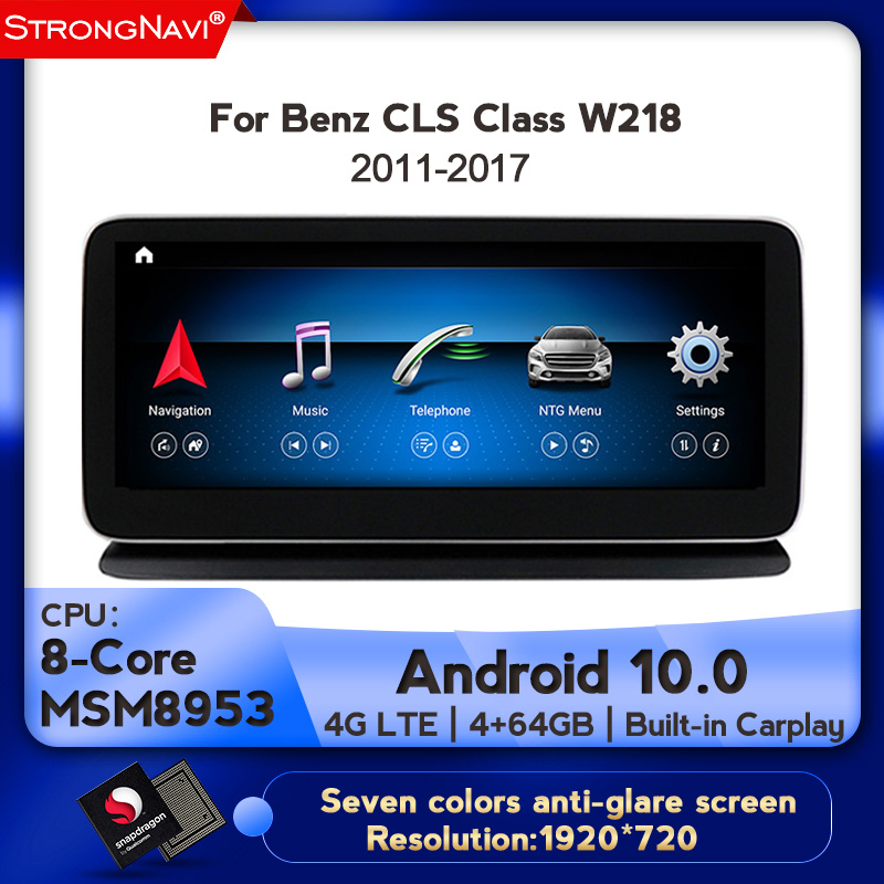 1920*720 10.25inch IPS <font><b>Android</b></font> 10.0 8Core <font><b>Car</b></font> DVD Multimedia Player For <font><b>Mercedes</b></font> Benz CLS Class W218 2011-2017 With <font><b>GPS</b></font> BT WIFI image