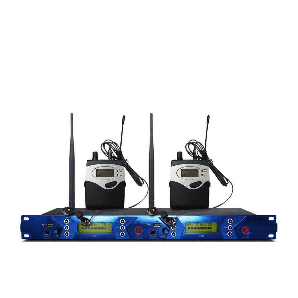 Profesjonalny bezprzewodowy system monitorowania dousznego, profesjonalny występ na scenie z 2 nadajnikami bodypack