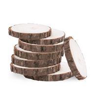 30pcs 8 10CM Creative Natural Decorative Wooden Slices Discs Logs Centerpieces for Wedding DIY Craft