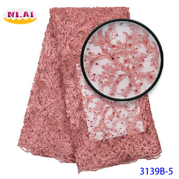 aso ebi style nigerian red lace fabric 2019 high quality lace dentelle tissus haute qualit tulle Blush Pink MR3139B