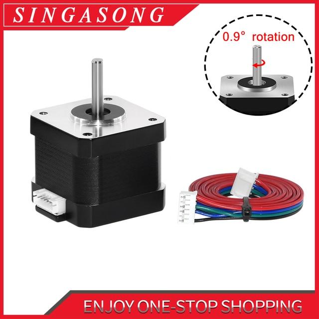 Nema17 Stepper Motor 0.9 Degree Higher precision 280 mN.m/57g.Cm 1.3A 17HS4401 4 Lead DIY CNC 3D Printer