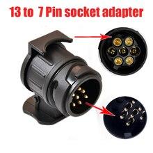 13-7 контактный соединитель прицепа 12 В буксировочный штекер Адаптер прочный водонепроницаемый адаптер розетки для домов на колесах защищае...