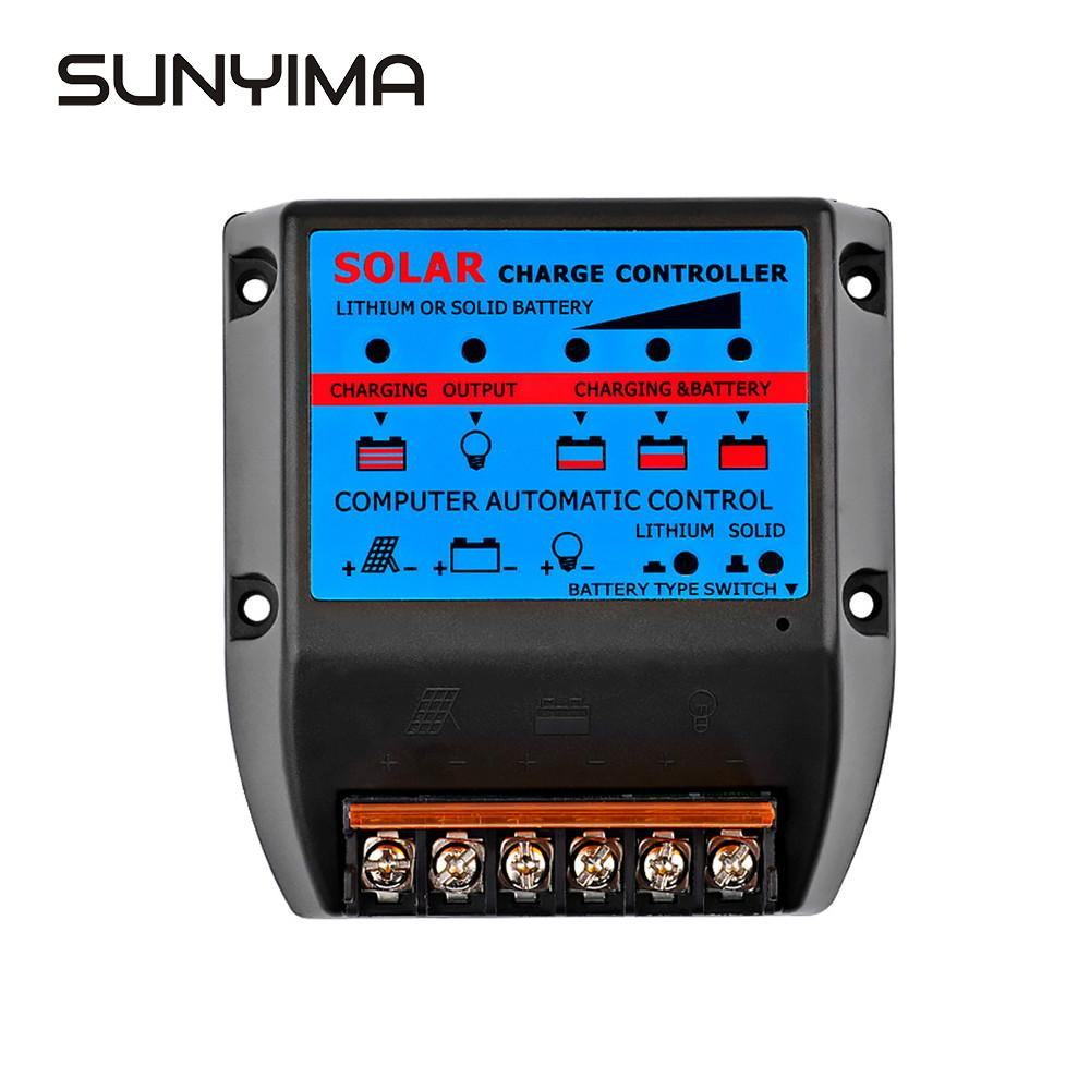 SUNYIMA <font><b>12V</b></font> 24V Solar Charge controller 50A 40A 30A <font><b>20A</b></font> Solar Panel Regulator Lithium Solid Battery Charge Controller image