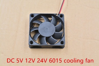 3d printer fan 6015 2pins 60mm 60x60 x15 mm 6cm cooling graphics card DC 5V / 12V 24V 2P 1pcs - sale item Office Electronics