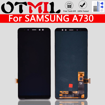 """5.5""""Super AMOLED LCD For SAMSUNG Galaxy A730 A8 2018 LCD Touch Screen Digitizer For SAMSUNG A8 Plus 2018 LCD A730 A8 2018"""